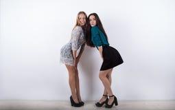 Två beauliful flickor som poserar till kameran Royaltyfria Foton