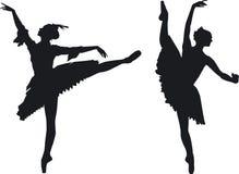 Två behagfulla balettdansörer Royaltyfria Foton