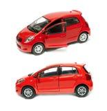 Två belägger med metall modellerar bilar Arkivfoton