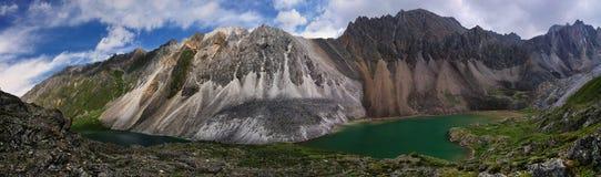 Två bergsjöar Royaltyfri Fotografi