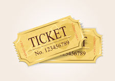 Två biljetter Royaltyfria Bilder
