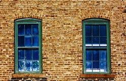 Två Blue Windows Royaltyfria Foton