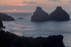 Två bröder Fernando de Noronha Island Royaltyfria Bilder