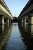 Två broar Arkivfoton