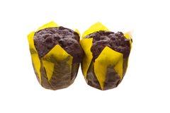 Två bruna muffin Royaltyfri Bild