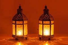 Två candela Arkivbild