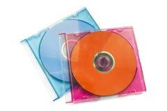 Två CD-SKIVOR Royaltyfria Foton