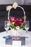 Två Champagneexponeringsglas Fotografering för Bildbyråer
