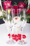 Två Champagneexponeringsglas Royaltyfri Bild