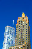 Två Chicago skyskrapor Royaltyfri Bild
