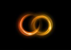 Två cirklar Arkivfoton