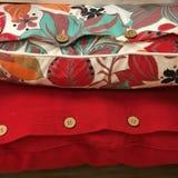 Två dekorativa kuddar Royaltyfri Fotografi