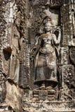Två Devatas i den Bayon templet Royaltyfri Bild