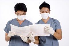 Två doktorer Arkivbild