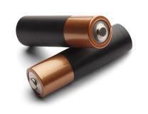 Två dubblett batterier Arkivbild
