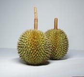 Två durians Royaltyfria Bilder