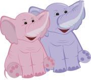 Två elefanter Arkivbilder