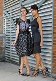 Två eleganta modemodeller Royaltyfri Bild