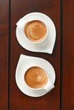 Två espresso Arkivfoton