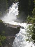 Två etapper av den Krimml vattenfallet, Österrike Royaltyfri Foto