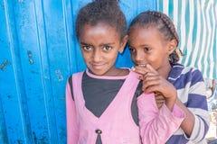 Två etiopiska systrar Arkivbild