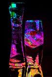 Två exponeringsglas abstrakt begrepp Arkivbild