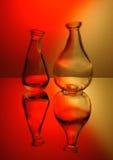 Två exponeringsglas i rött Arkivbilder