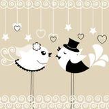 Två fåglar: bruden och brudgummen Royaltyfri Foto