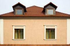 två fönster Arkivbilder