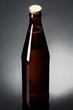 Två flaskor av öl på en reflekterande yttersida Arkivbild