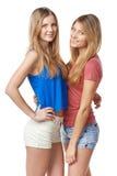 Två flickavänner royaltyfri fotografi