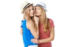 Två flickavänner Arkivfoton