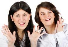 Två flickor Arkivbilder