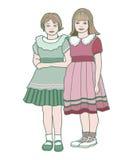 Två flickor Royaltyfri Foto