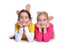 Två flickor Arkivfoton