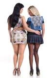 Två flickor i strumpbyxor Royaltyfria Bilder