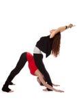 Två flickor som gör yoga Royaltyfria Foton