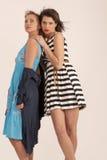 Två flickvänner Royaltyfri Fotografi