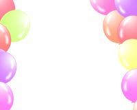 Två fodrar av ballonger stock illustrationer
