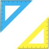 Två fodrar i forma av en triangel. Vektorillustration Stock Illustrationer