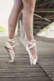 Två fot från en ballerina Arkivfoto