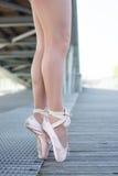 Två fot från en ballerina Arkivbild