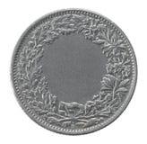 Två franc mynt fotografering för bildbyråer