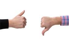 Två göra en gest händer Arkivfoto
