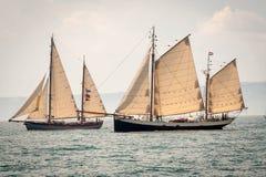 Två gamla skepp Royaltyfri Foto