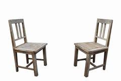 Två gamla stolar Arkivfoton