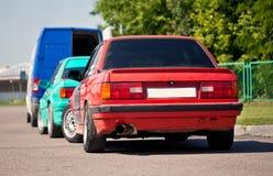 Två gamla tyska sportbilar Arkivbilder