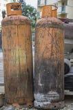 Två gascylindrar Fotografering för Bildbyråer