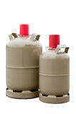 Två gasflaskor Arkivbild