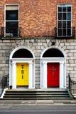 Två georgiska dörrar Royaltyfria Foton